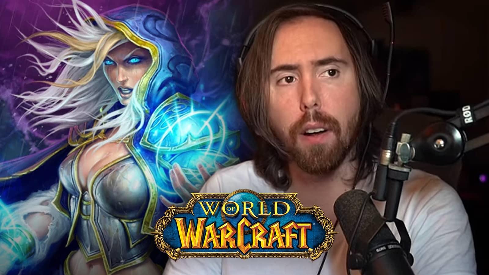 Asmongold critica a los desarrolladores de WoW Blizzard mientras se sentaba junto a Jaina Valiente.
